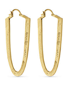 Vince Camuto Gold-Tone Textured Drama Hoop Earrings