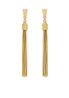 Vince Camuto Gold-Tone Chain Tassel Earrings