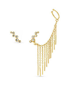 Vince Camuto Asymmetric Earring With Ear Jacket