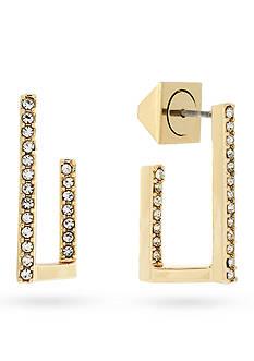Vince Camuto Gold-Tone J Hoop Earrings