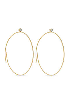 Vince Camuto Spiral Crystal Hoop Earrings