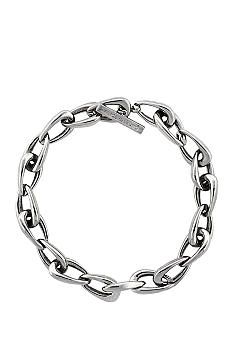 Vince Camuto Core Silver Tone Links Collar Necklace