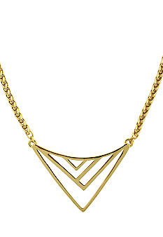 Vince Camuto Enamel Chevron Necklace