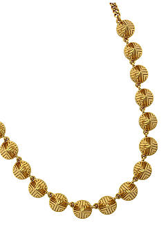 Vince Camuto Tribal Fusion Gold Cone Collar Necklace
