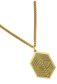 Vince Camuto Tribal Fusion Gold Pendant Necklace