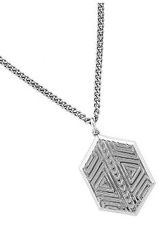 Vince Camuto Tribal Fusion Silver Pendant Necklace