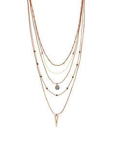 Vince Camuto Rose Gold-Tone Golden Honey Multistrand Necklace