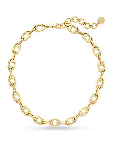 Vince Camuto Gold-Tone Geo Links Collar Necklace