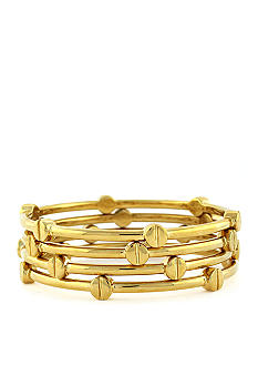 Vince Camuto Set of Four Gold Bangle Bracelets