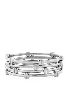 Vince Camuto Set of Four Rhodium Bangles