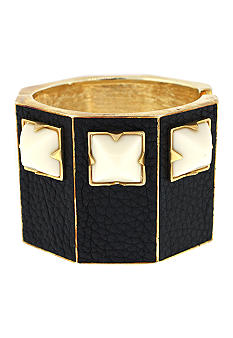 Vince Camuto Neutral Territory Black and Ivory Hinge Bracelet