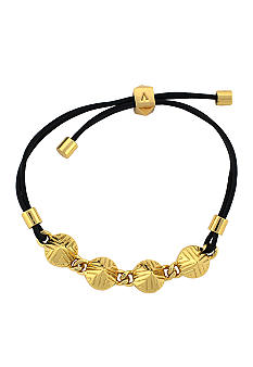 Vince Camuto Tribal Fusion Gold and Black Slider Bracelet