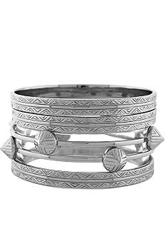 Vince Camuto Tribal Fusion Silver Bangle Set