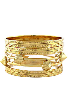 Vince Camuto Tribal Fusion Gold Bangle Set