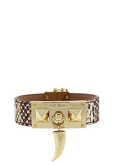 Vince Camuto Bronze Metallic Snake and Gold Horn Bracelet