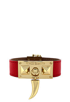 Vince Camuto Red and Gold Horn Bracelet