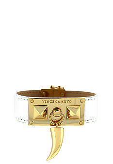 Vince Camuto White and Gold Horn Bracelet