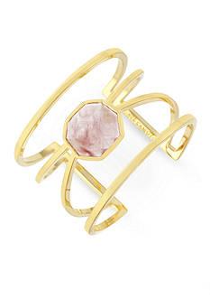 Vince Camuto Gold-Tone Colored Stone Geo Cuff Bracelet