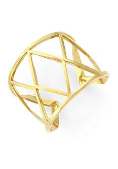 Vince Camuto Gold-Tone Geo Links Cuff Bracelet