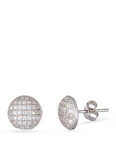 Belk Silverworks Sterling Silver White Cubic Zirconia Earrings