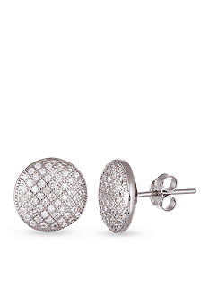 Belk Silverworks Sterling Silver Cubic Zirconia Round Stud Earrings