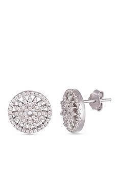 Belk Silverworks Sterling Silver White Cubic Zirconia Star Earring