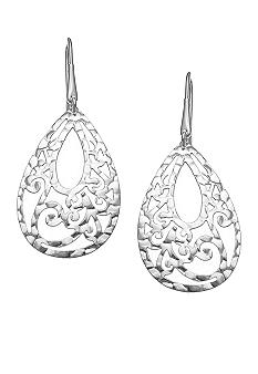 Belk Silverworks Silver Plated Stainless Steel Filigree Earrings