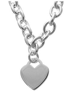 Belk Silverworks Silver-Plated Stainless Steel Heart Link Necklace