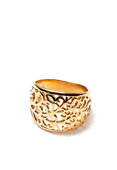 Belk Silverworks Gold Tone Stainless Steel Filigree Ring