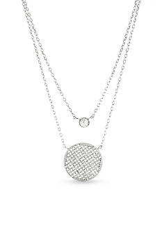 Belk Silverworks Sterling Silver Cubic Zirconia Layered Necklace