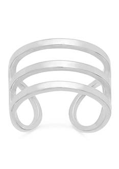 Belk Silverworks Sterling Silver Open Row Cuff Ring