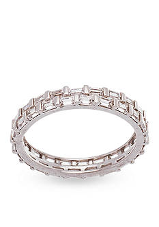 Belk Silverworks Rhodium-Plated Sterling Silver Cubic Zirconia Eternity Ring
