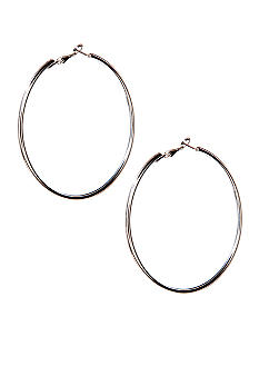 Red Camel Large Hoop Earrings