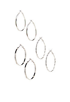 Red Camel Hoop Earring Trio Set