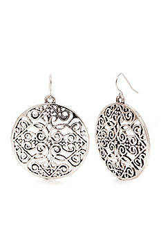 Red Camel Filigree Drop Earrings
