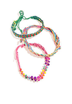 Red Camel Three Piece Multi-Colored Bracelet Set