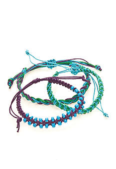 Red Camel Three Row Friendship Bracelets
