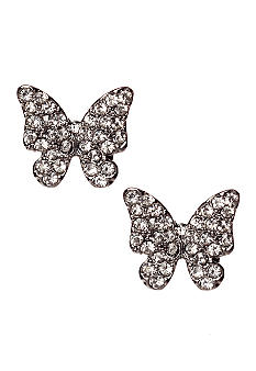 Red Camel Butterfly Stud Earrings