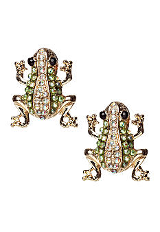 Red Camel Frog Stud Earrings