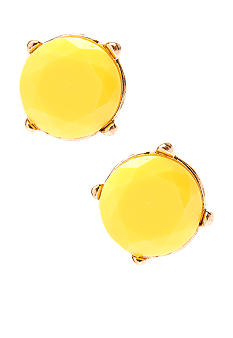 Red Camel Neon Yellow Stud Earrings