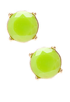 Red Camel Neon Lime Stud Earrings