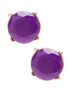 Red Camel Neon Purple Stud Earrings