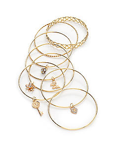 Red Camel 9-Piece Bangle Bracelet Set