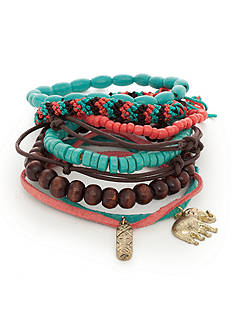 Red Camel Gold-Tone Turquoise Bracelet Set