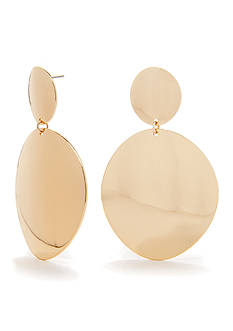 Red Camel Double Disc Drop Earring