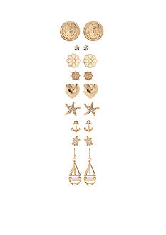 Red Camel Gold-Tone Prep Up Earring Set