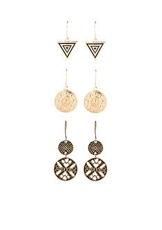 Red Camel Gold-Tone Desert Dreaming Trio Drop Earring Set
