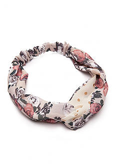 Red Camel Prep Up Ivory Floral Hair Wrap