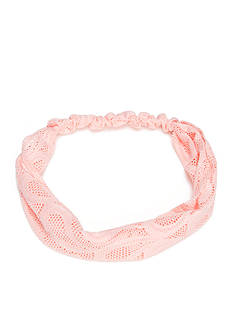 Red Camel Peach Lace Head Wrap