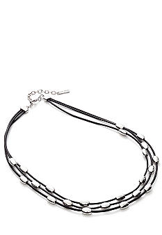 Nine West Double Leather Cord Necklace